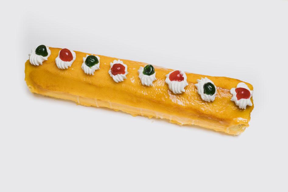 Tarta Tirta de nata y yema de Pastelería Eceiza de Tolosa